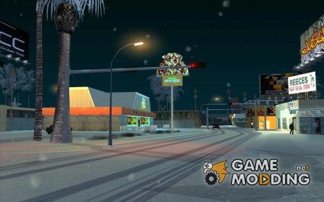 Реальная зима for GTA San Andreas