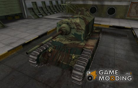 Французкий новый скин для ARL 44 for World of Tanks