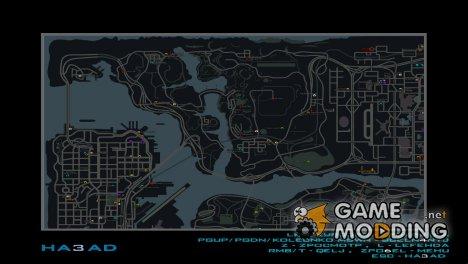 Карта в стиле GTA IV с иконками бизнесов SAMP RP для GTA San Andreas