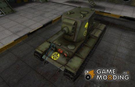 Контурные зоны пробития КВ-2 for World of Tanks