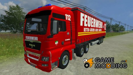 MAN TGX firefighters v 1.5 for Farming Simulator 2013