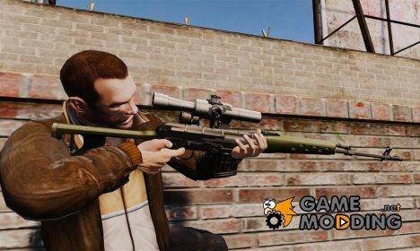 Снайперская винтовка Драгунова v3 for GTA 4