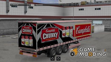 Chunky Trailer HD для Euro Truck Simulator 2