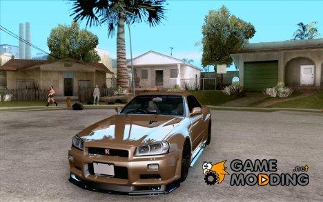 Nissan Skyline GTR-34 M-spec Nur for GTA San Andreas