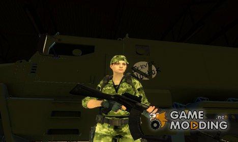 Jill Valentine рядовая ВСУ for GTA San Andreas