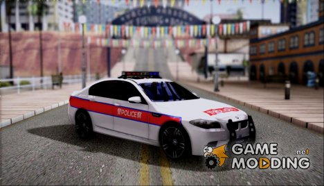 BMW M5 F10 Hongkong Police for GTA San Andreas