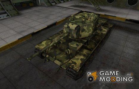 Скин для КВ-3 с камуфляжем для World of Tanks