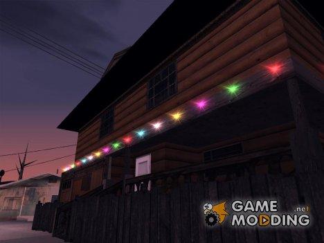 Новогодние гирлянды for GTA San Andreas