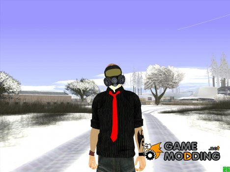 Skin GTA Online в противогазе для GTA San Andreas