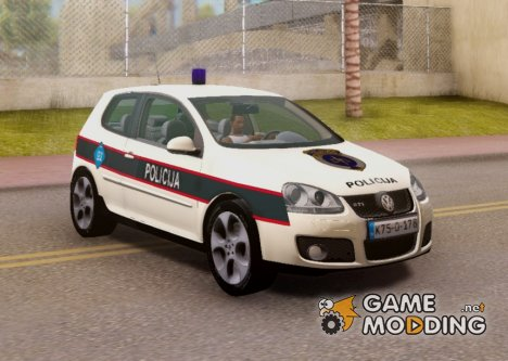 Golf V - BIH Police Car V2 (Single Siren) for GTA San Andreas