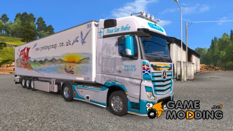 "Скин ""Peche Group"" для Mercedes Actros MP4 for Euro Truck Simulator 2"