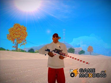 Новогоднее оружие из WarFace for GTA San Andreas