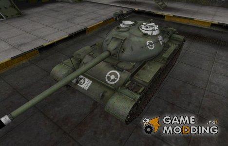 Зоны пробития контурные для Type 59 для World of Tanks