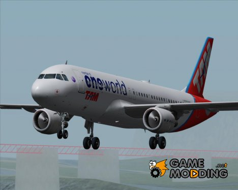 Airbus A320-200 TAM Airlines - Oneworld Alliance Livery для GTA San Andreas