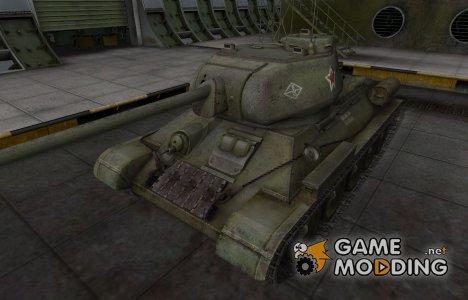 Скин с надписью для Т-34-85 для World of Tanks