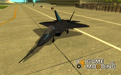 YF-22 Black for GTA San Andreas