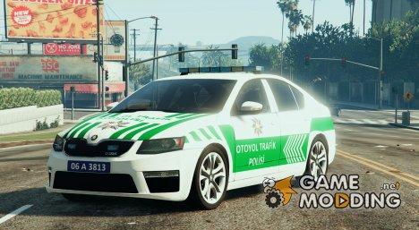 Škoda Octavia 2016 Yeni Otoyol Trafik Polisi для GTA 5