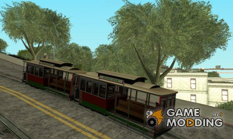 Tram, painted in the colors of the flag v.3 by Vexillum для GTA San Andreas
