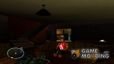 Сидеть и прислониться к стене for GTA San Andreas