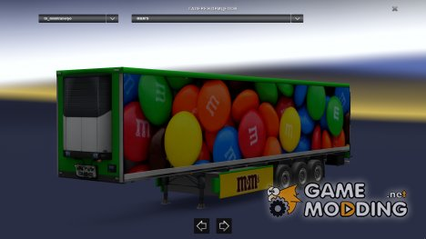M&M's cooliner trailer mod by BarbootX for Euro Truck Simulator 2