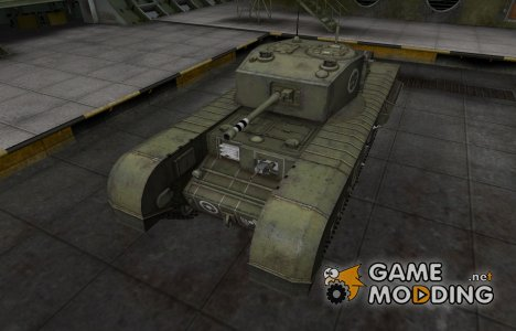 Зоны пробития контурные для Черчилль III для World of Tanks