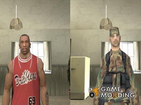Смена скина игрока для GTA San Andreas