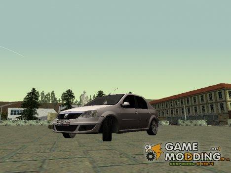 Dacia Logan 2008 GrayEdit for GTA San Andreas