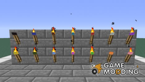 Coloured Torches for Minecraft