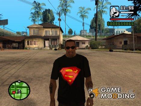 Футболка с логотипом Super Man for GTA San Andreas