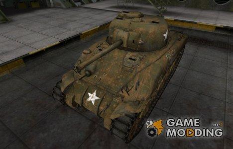 Исторический камуфляж M4 Sherman для World of Tanks