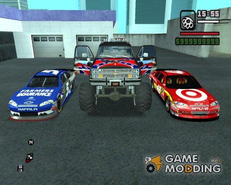 Пак машин by Pahan123 для GTA San Andreas