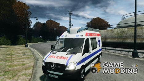 Mercedes-Benz Sprinter Azerbaijan Ambulance v0.1 for GTA 4