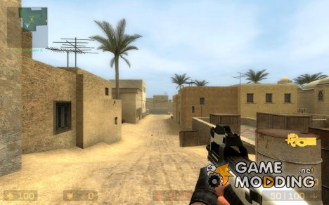Hojo's White And Black P90 для Counter-Strike Source