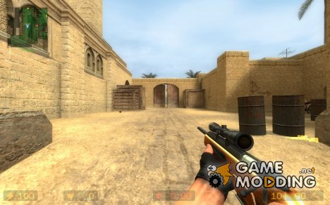Hi-Res Wood Scout Reskin And World Model для Counter-Strike Source