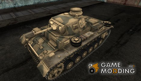 Шкурка для PzKpfw III для World of Tanks