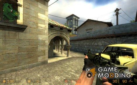 Dark Camo M4A1 for Counter-Strike Source