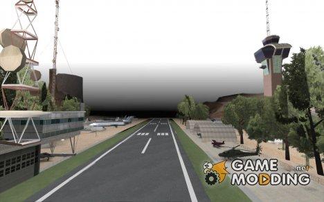 Обновлённый заброшенный аэропорт в пустыне for GTA San Andreas