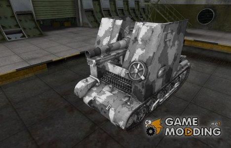 Камуфлированный скин для Sturmpanzer I Bison для World of Tanks