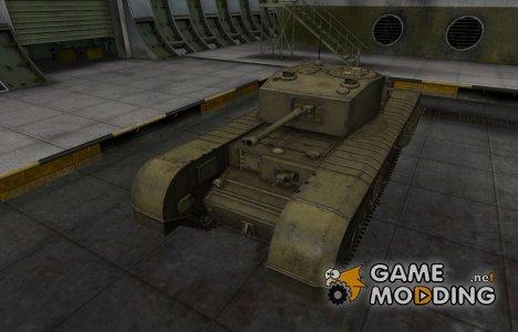 Шкурка для Черчилль III в расскраске 4БО for World of Tanks