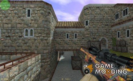 AWP orange camo для Counter-Strike 1.6