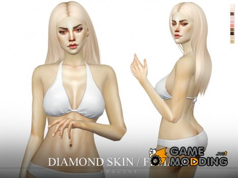 Diamond Skin Female для Sims 4