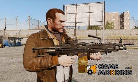 Ручной пулемёт FN Minimi Para for GTA 4