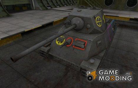 Контурные зоны пробития T-25 for World of Tanks