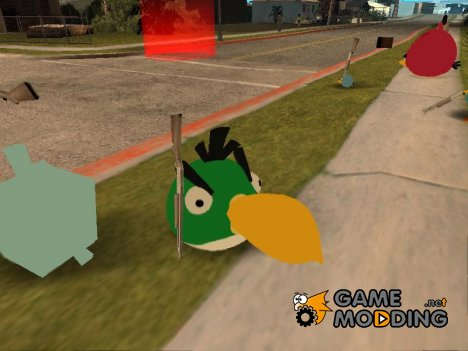 Green Bird from Angry Birds для GTA San Andreas