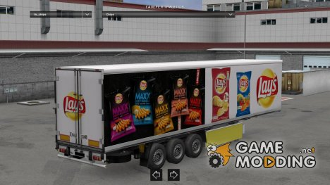 Lay\'s Trailer Skin for Euro Truck Simulator 2