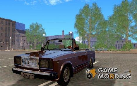 Ваз 2107 кабриолет для GTA San Andreas