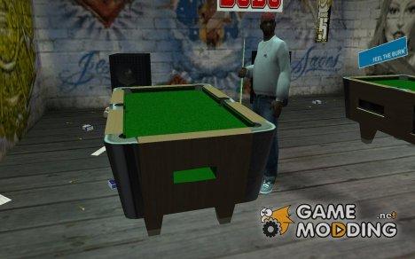 Новый бильярдный стол for GTA San Andreas