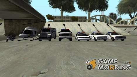 PACK standard vehicle in the style of Metropolitan Police для GTA San Andreas