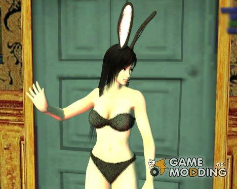 Kokoro в темном нижнем белье и заячьих ушках for GTA San Andreas