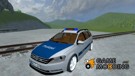 Volkswagen Passat B7 police for Farming Simulator 2013